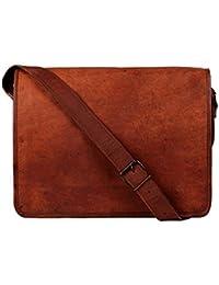 Bag House, Vintage Leather Messenger Soft Leather Briefcase Satchel Leather 13 Inch Laptop Messenger Bag For Men...