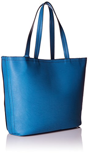 Kenneth Cole Reaction Saffiano Clean Slate Shopper Bag, Delft Blue/Black, One Size