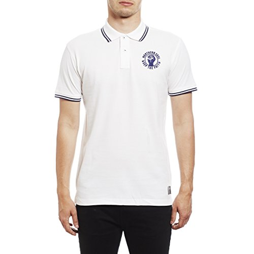 Northern Soul Keep The Faith Embroidered Polo Shirt - Polo para Hombre by 45REVS. Blanco/Large