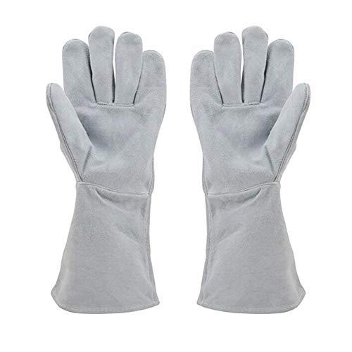 HAOLY Anti-bissige Handschuhe,Hund Training Anti-Katze kratzen Leder Pet Schützende Verdickung Schweißen Handschuhe EIN Paar-A 34x14cm(13x6inch)