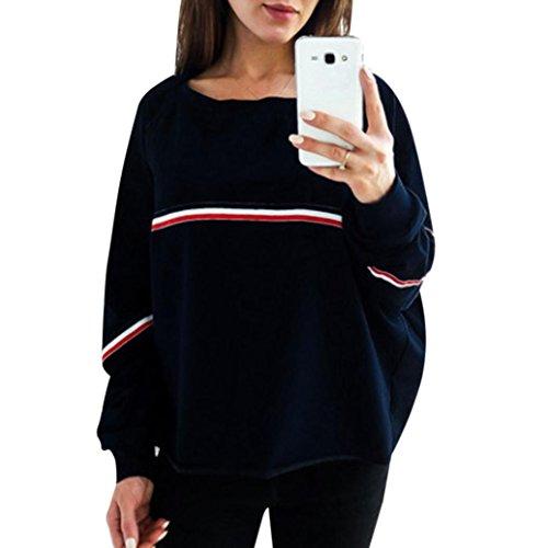 ESAILQ Damen T Shirt Bluse Tank Top Damen Camisole Sommer Lose Weste Schwarz Blau Rosa Große Größe Mode 2018(XL,Marine) -