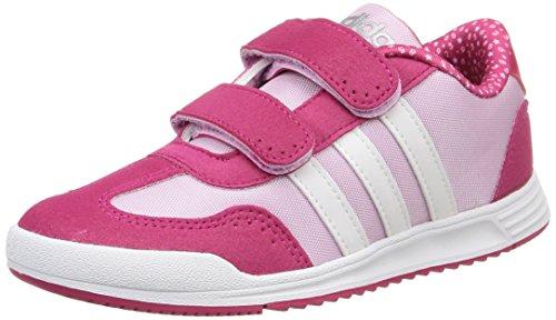 Adidas Dino Vs Cmf C Scarpe per bambini, Unisex - bambino, Multicolore (Light Orchid S15/Ftwr White/Matte Silver), Taglia 33