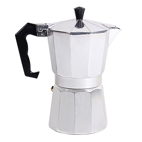Awhao Stovetop Espresso Maker Italian Type Octagonal Household Aluminum Espresso Percolator Maker 41Co03LkwGL