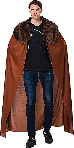 Herren Game Of Thrones Verkleidung Kostümparty Umhang mit Kragen Kostüm Outfit - Braun, One Size