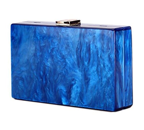 Colore Solido Perla Acrilico Signore Frizione Europa E Stati Uniti Sacchetto Del Messaggero Piccolo Sacchetto Quadrato Blue