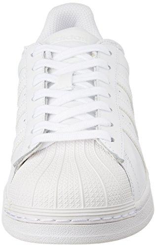 adidas Superstar Foundation, Unisex-Erwachsene Sneakers, Weiß (Ftwr White/Ftwr White/Ftwr White), EU 44 - 4
