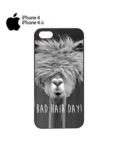 Bad Hair Day Llama Mobile Cell Phone Case Cover iPhone 5c Black Noir