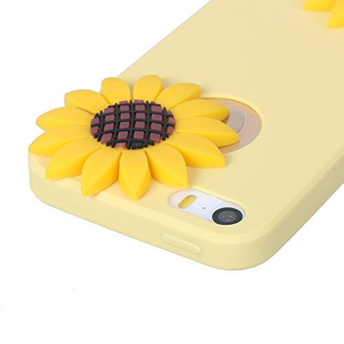 iPhone SE 3D Silikon Hülle Rosa Schleife Weiche Silikon Back Cover 3D Niedlich Frucht Muster Bumper Handyhülle Schale für iPhone SE / 5S / 5 Banane Wassermelone Ananas