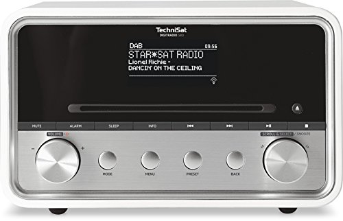 TechniSat DIGITRADIO 580 - Stereo Digitalradio mit CD-Player Internetradio mit Multiroom-Streaming, Bluetooth, Steuerung per App, 2 x 10 Watt) weiß