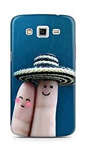 Amez designer printed 3d premium high quality back case cover for Samsung Galaxy Grand 2 G7102 (Finger art sweet couple love)