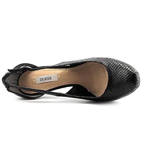Guess Jacoba Synthétique Talons Compensés Black Multi