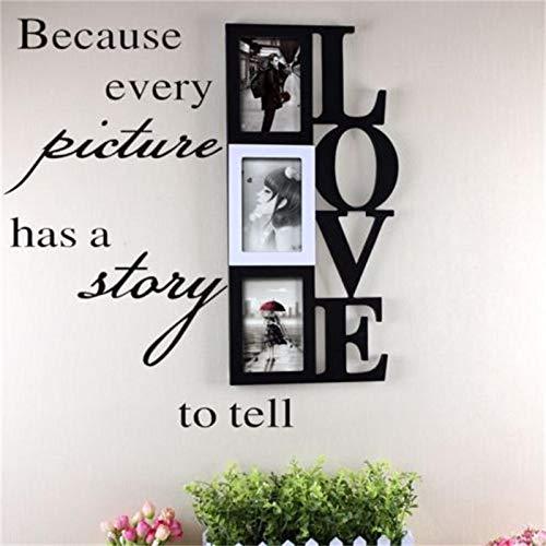 chaque photo a une histoire à raconter le mur mur d'autocollants de déco vignette décorative salon art 8 093