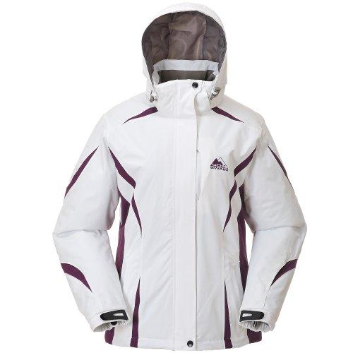 COX SWAIN TITANIUM Damen 2-lagen Outdoor Ski- und Snowboard Multifunktionsjacke ASPEN mit Recco, Colour: White/Berry, Size: XL