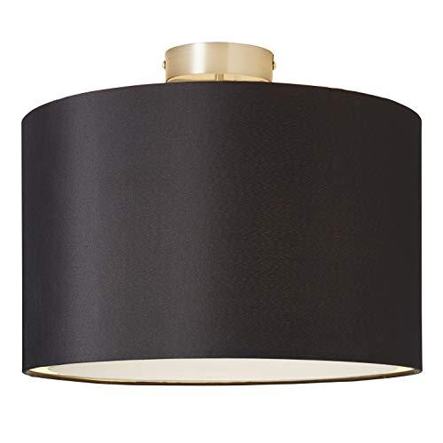 Brilliant Clarie Deckenleuchte 40cm Textilschirm eisen/schwarz, 1x E27 geeignet für Normallampen bis max. 60W