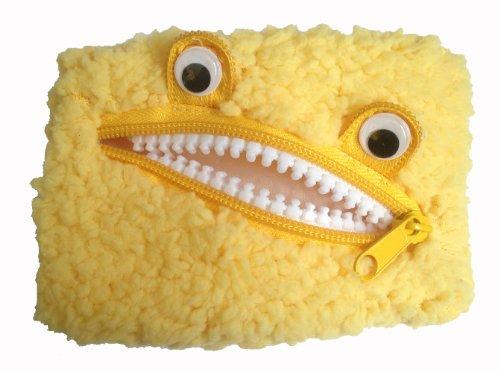 240030 Plüsch Geldbörse Monster, Utensilientäschen, Kosmetiktasch (Gelb)