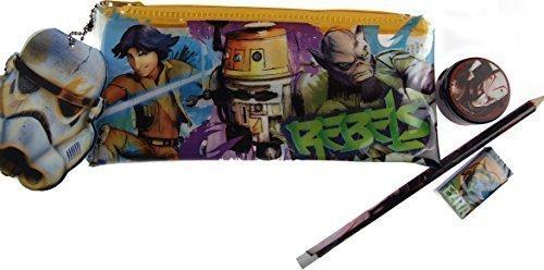 Star Wars Rebels Juego de escritorio y estuche escolar, 4piezas