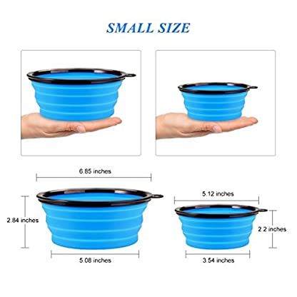 INMAKER Collapsible Dog Bowl Large, 2 Pack, Food Grade Silicone Dog Water Bowl, FDA Approved Dog Travel Bowl 3
