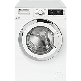 Smeg Wmf916Auk A+++ Rated Freestanding Washing Machine - White/Chrome
