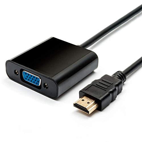 YWT Adaptador HDMI VGA 2 Piezas Convertidor Macho