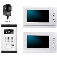 LUFA V70F / 520/2 videoportero intercomunicador timbre de la puerta 2 botones infrarrojos cámara