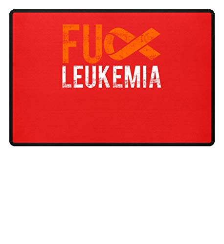 Fuck Leukemia - Leukämie, Krebs, Blutkrebs, Leukose, Krebskranke, Kranke, Krankheiten - Fußmatte