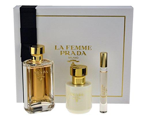 Set Prada La Femme Eau de Parfum 100ml + Body 100ml + Rollo (Normandie) 10ml [Prada] (Set De Parfums)