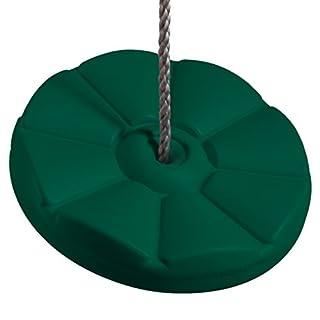 Ultrakidz Schaukelsitz, Schaukelteller Blume, Tellerschaukel aus wetterfestem Kunststoff, höhenverstellbar, ideal als Outdoor Baumschaukel oder Einzelschaukel für Den Eigenen Spielplatz, Grün