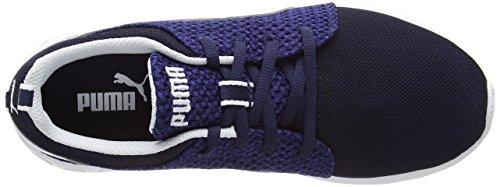 Puma - 188150 - Carson Runner Knit - Chaussures de Course - Homme Bleu - Blau (peacoat-sodalite blue-white 07)