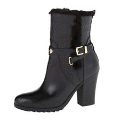 Michael Kors Michael Frauen Breck Ankle Boot Geschlossener Zeh Leder Fashion Stiefel Schwarz Groesse 5.5 US/36 - Kors Michael Boots