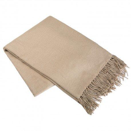 donregaloweb-polyester-gro-decke-170x-130cm-glatte-textur-in-beige-creme