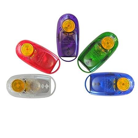 Karen Pryor KPCT Clickertraining i-Click Jewel Clicker in gemischten Farben 5er Pack