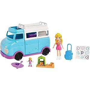 Polly Pocket Caravana de aventuras de Polly, accesorios para muñecas (Mattel FTP74)