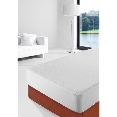 Savel Protector de colchón rizo impermeable 80 cm blanco