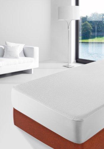 Savel, Protector de colchón Rizo 100% algodón, Impermeable y Transpirable, 90x190/200cm (para camas de