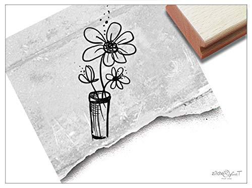 (Stempel Motivstempel Blumen-VASE - Bildstempel für Glückwünsche Karten Einladung Servietten Tischdeko Scrapbook Geschenk Geburtstag - zAcheR-fineT)