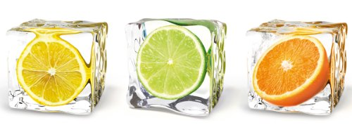 Eurographics DG-DT5078 Deco Glass, Glasbild, Fruits In Cubes, 30 x 80 - Glas-cube-bild