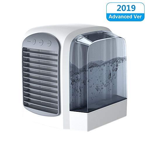 Mini-Luftkühler Tragbarer Klimaanlagenlüfter, Kleinraumkühler Persönlicher Luftkühler, Persönlicher USB-Desktop-Lüfter Luftbefeuchter Kompakter Verdunstungskühler