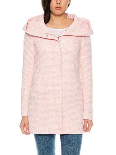 ONLY Damen-Woll-Mantel onlSedona Link Coat 15144772 Kurz-Mantel Übergang-Jacke, Größe:XS, Farbe:Rosa - 4