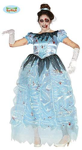 Guirca costume principessa zombie donna adulta halloween horror taglia: l 42-44