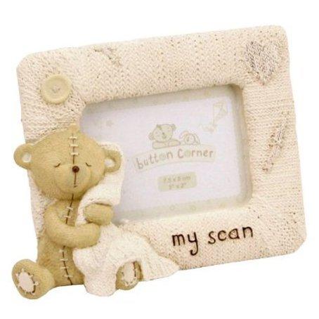 Button Corner 'My Scan' resin photo frame 3'' x 2''