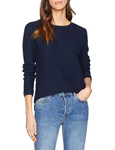 TOM TAILOR Damen Sweatshirt Sweatpullover mit ottomaner Struktur, Mehrfarbig (6593), Medium (Herstellergröße: M)