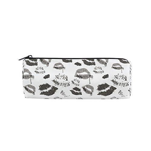 Ahomy Federmäppchen Halloween Lippen Symbol Reißverschluss Bleistifttasche Tasche für Teenager Mädchen und Jungen, Reise Make-up Tasche für Frauen
