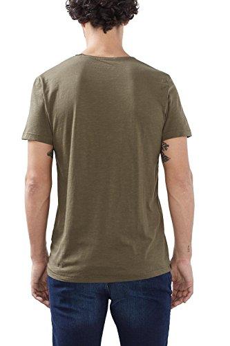 ESPRIT Herren T-Shirt Grün (khaki Green 350)