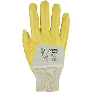 Asatex 03400 Nitril-Handschuh Größe 10 in gelb