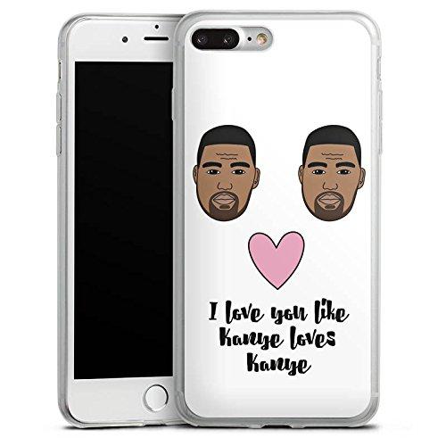 Apple iPhone 8 Plus Slim Case Silikon Hülle Schutzhülle Love Spruch Kanye Silikon Slim Case transparent