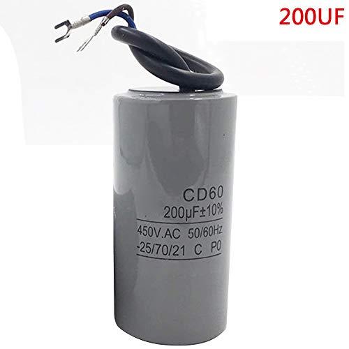 Pinzhi Universal 200UF Gerät Motor Start Lauf Kondensator CD60 450VAC Motor -