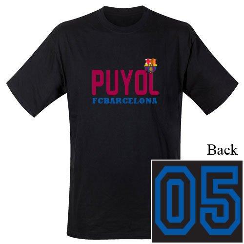 Camiseta de manga corta para hombre, diseño del FC Barcelona Diseño: Puyol (100% algodón)