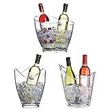 Bar Craft Doppel-Flaschenkühler aus Acryl, durchsichtig - 4