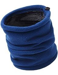 Tinksky Warm Fleece Scarf Collars Winter Outdoor Neckerchief Sport Bufanda Riding Warm Face Mask Hat Navidad Regalo de cumpleaños para Mujeres Hombres (Azul Marino)