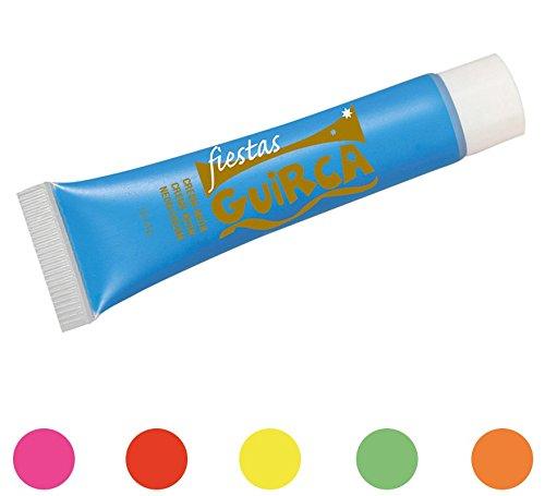 Tubo de neón de color rojo maquillaje para disimular el carnaval